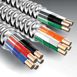 10 2 with ground mc cable mc lite cable with metal clad aluminum interlocking armor