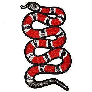 Dp Gucci Behel List Semprem Quality snake embroidered iron on applique patch embroidery patch by 1 pc 11 1 2 tr