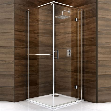B And Q Shower Doors Cooke Lewis Cascata Square Hinged Shower Enclosure Tray Waste With Hinged Door W 900mm D