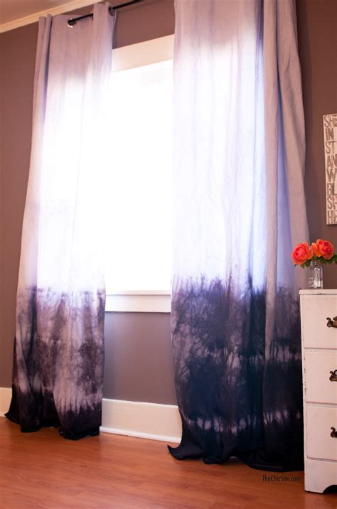 Diy dip dyed curtains the chic site