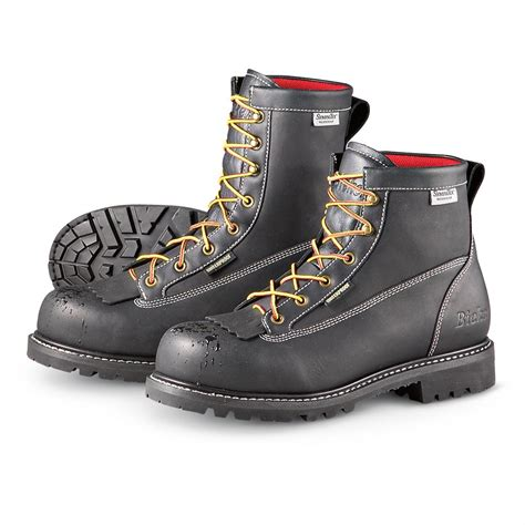 Black Master Boot Rossel Black s work master 174 8 quot vibram 174 waterproof composite safety toe work boots black 205383 work