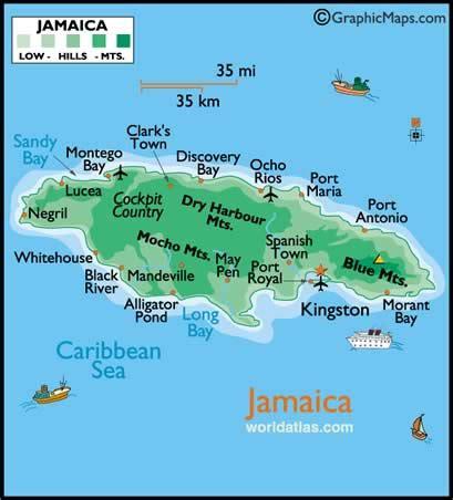 map usa jamaica maps usa map jamaica