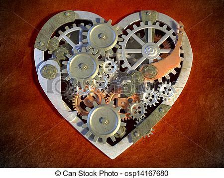 imagenes de corazones mecanicos stock de ilustraciones de coraz 243 n mec 225 nico engranaje