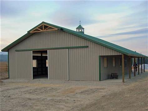 steel horse barns horse barn  lean  attachment