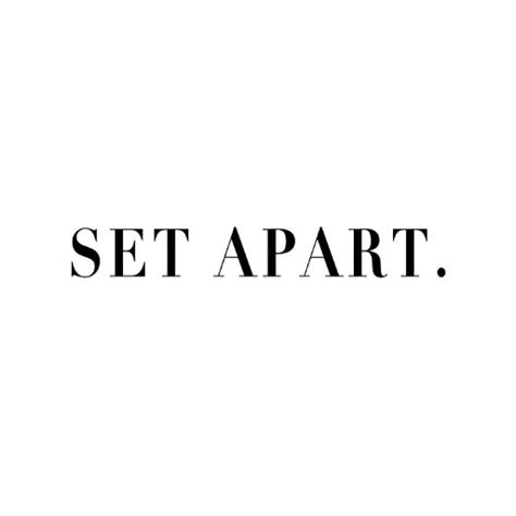 Set Appart by Set Apart Setapartstore