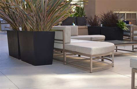 Modern Planters Los Angeles by Geo Rectangle Planter Patio Los Angeles