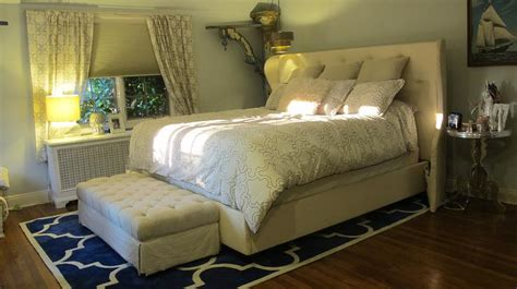 martha stewart bedrooms transitional bedroom with white tufted bed