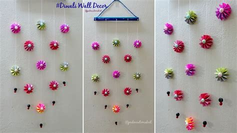 diy wall decoration idea    easy paper wall