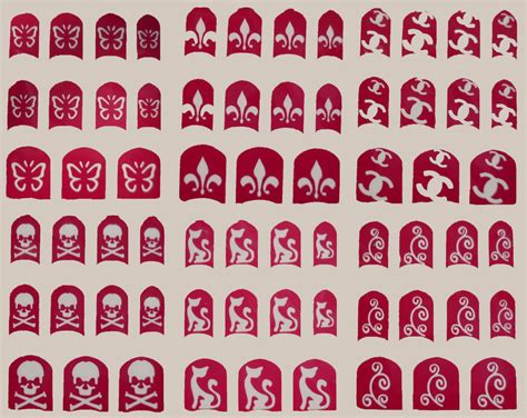 Nail Vinyl Stencil Sticker Stiker Nail Chevron Water Marble nail stencils stickers patterns flower skull paws butterfly bows cat ebay