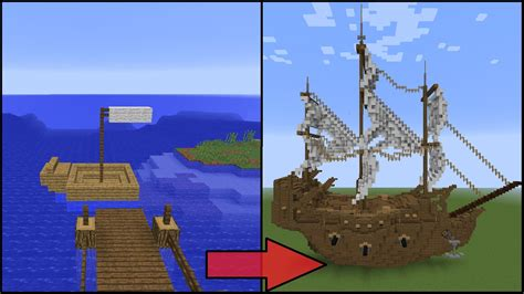 how to build a working boat in minecraft no mods 5 easy steps to improve your minecraft boat youtube