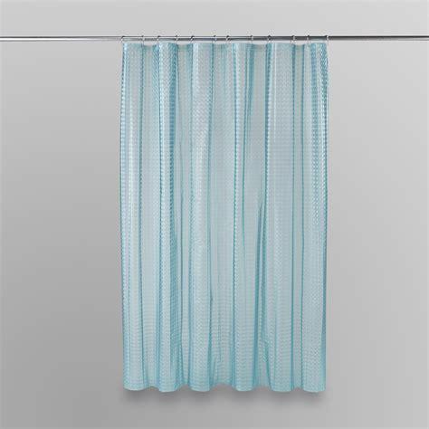 kmart shower curtains essential home shower curtain aqua prism