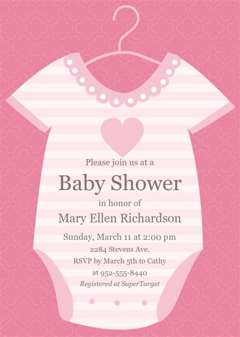 baby shower invitation cards girl baby shower invitation