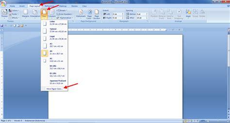 cara membuat halaman pada lembar kerja microsoft word 2010 cara mengatur ukuran kertas pada microsoft word panduan