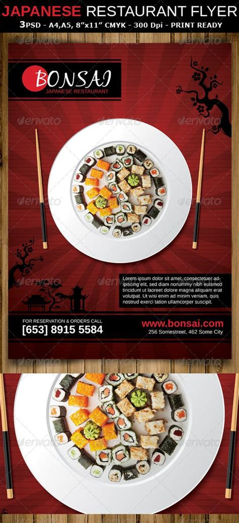 flyer design japan japanese restaurant ad flyer template is a modern and