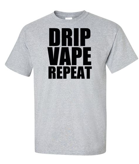 T Shirt Vape Spot 1 drip vape repeat logo graphic t shirt supergraphictees