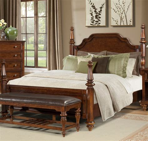 traditional beds reedsport wood poster bed by a america traditional