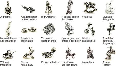 wedding cake pull charm meanings baby shower charms sets sterling silver baby shower