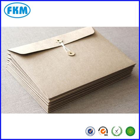 Paper Envelopes - kraft paper envelope with string buy kraft paper