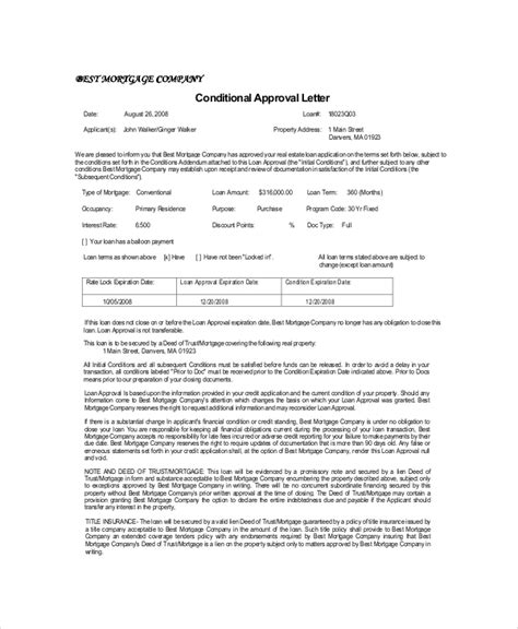 Mortgage Acceptance Letter Approval Letter For Home Loan Khafre