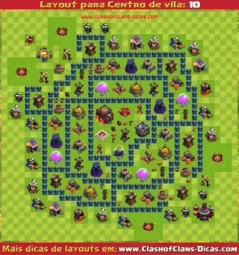 layout hibrido cv 5 layouts de centro de vila 10 para clash of clans clash