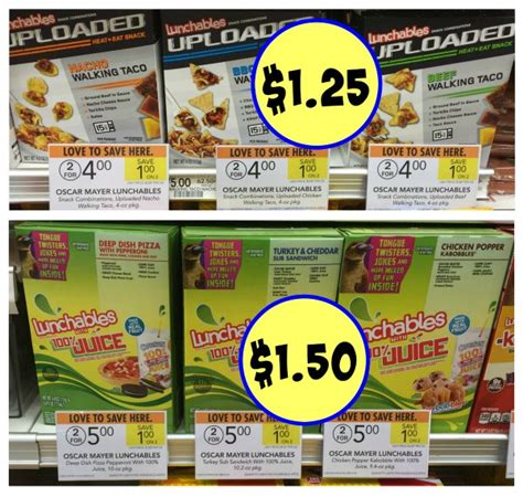 Lunchables Sweepstakes - great deals on lunchables at publix as low as 1 25