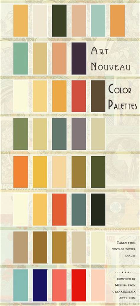 art deco colors nostalgia paint palettes and charts on pinterest