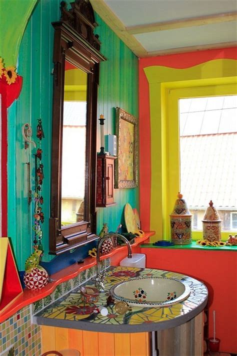 colorful bathroom decor dishfunctional designs the bohemian bathroom