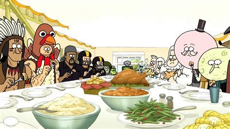 thanksgiving show image s05e12 thanksgiving dinner2 jpg regular show wiki