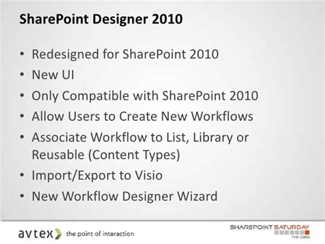types of workflows in sharepoint 2010 sharepoint workflows sharepoint saturday cities