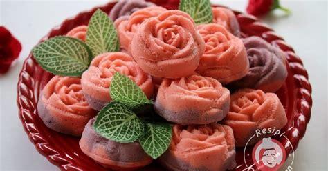 Supplier Cetakan Puding Agar Cokelat Cake Bunga Mawar Besar apam mawar citarasa wan