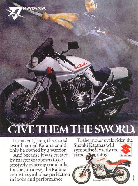 Suzuki Advert Suzuki Gsx1100s Katana Magazine Adverts