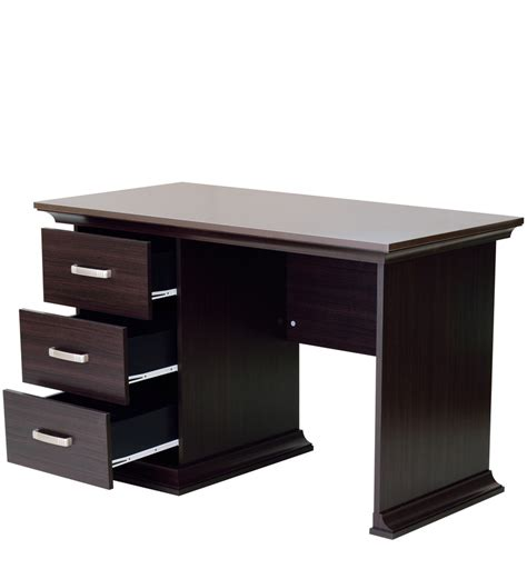 study table l buy kichirou study table with three drawers in wenge finish by mintwud study tables