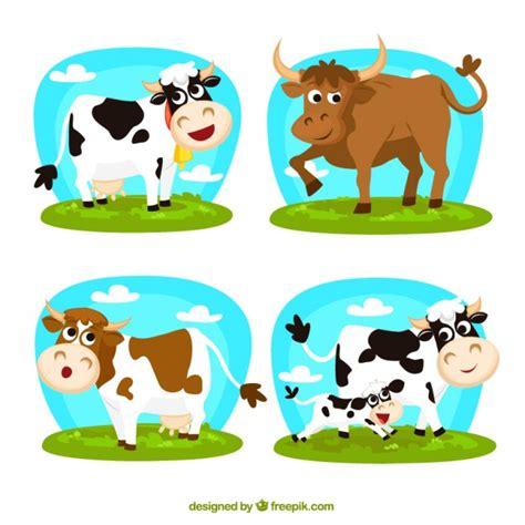imagenes animadas vacas enamoradas vacas de dibujos animados descargar vectores gratis
