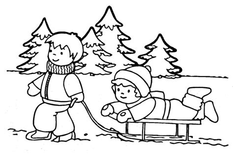 winter coloring pages coloringpages1001