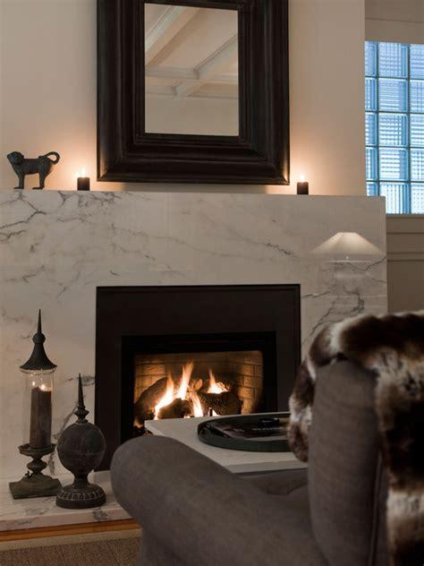 Gray Fireplace Surround Design Ideas Modern Marble Fireplace