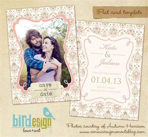 digital save the date template our day save the date card birdesign