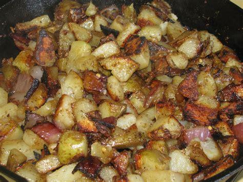 shamrocks and shenanigans cast iron fried potatoes