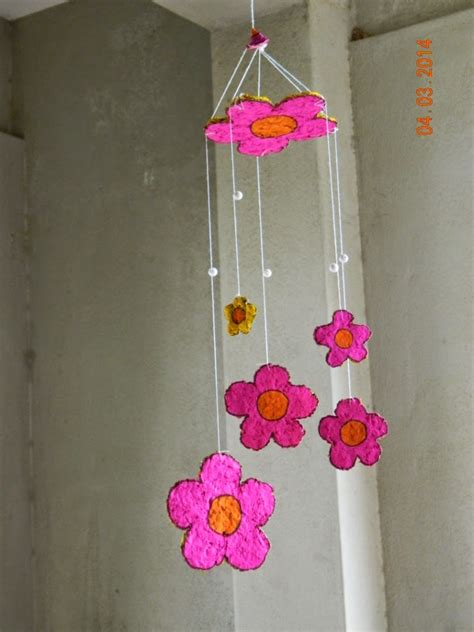 wind chime craft for paper mache wind chime yellow craft