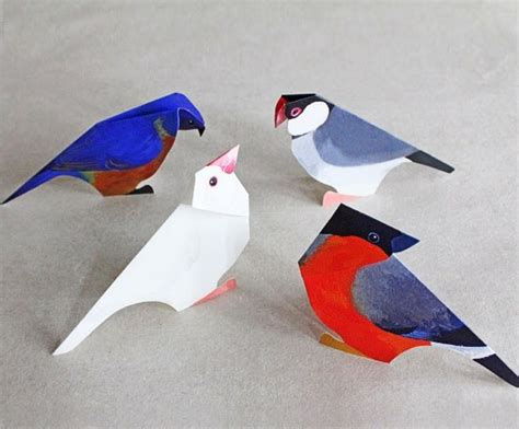 Paper Bird Craft - paper craft birds ideas ideas arts and crafts projects