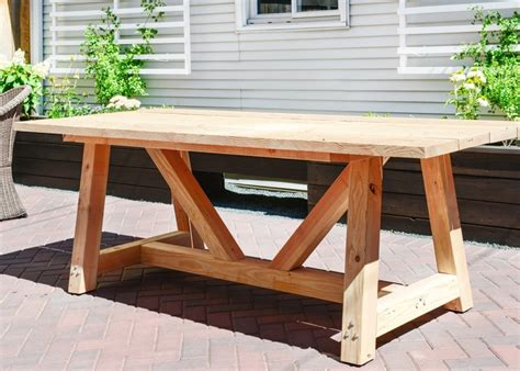 Plans To Build Wood Patio Table