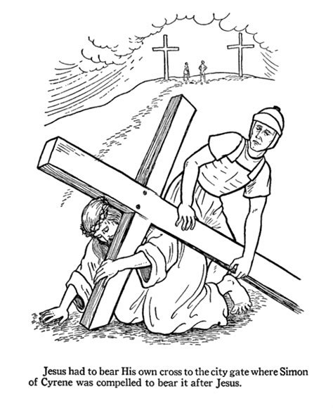 coloring page jesus cross jesus on the cross coloring page az coloring pages