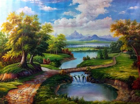 Landscape Paintings European Handmade Europe Painting On Canvas Classical Landscape
