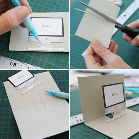 Diy Polaroid Pop Up Card Template by Diy Cartes Pop Up Imac Machine 224 233 Crire Et Polaroid