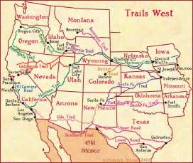 west america map the american cowboy chronicles west wagon trains west