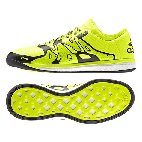 Adidas Futsal 04 x 15 1 boost indoor soccer shoes solar yellow black