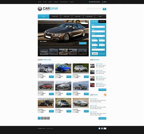 html themes for sale car dealer website template 39299