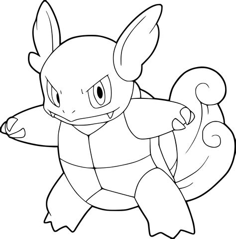 pokemon coloring pages wartortle pokemon wartortle coloring page
