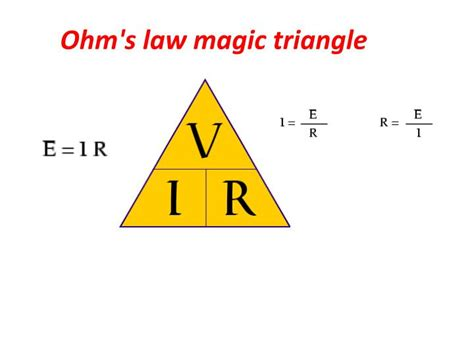 ohm s formula triangle ppt ohm s magic triangle powerpoint presentation id 725487