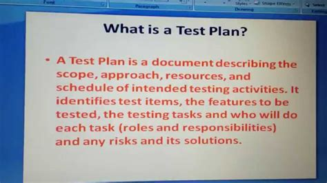 what is test plan template what is test plan software testing questions