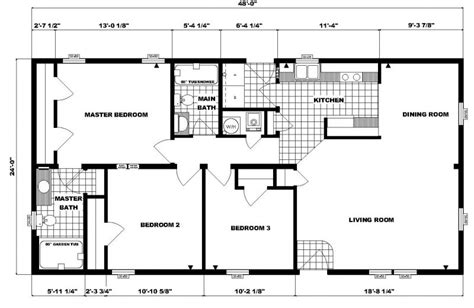 48 square feet 24 x 48 floor plans 24 x 48 approx 1152 sq ft 3 bedrooms